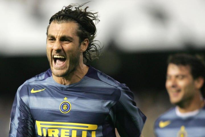 Inter Milan's Christian Vieri celebrates