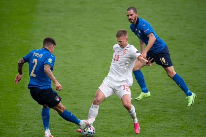 Dani Olmo, Leonardo Bonucci, Giovanni di Lorenzo - Soccer Player
