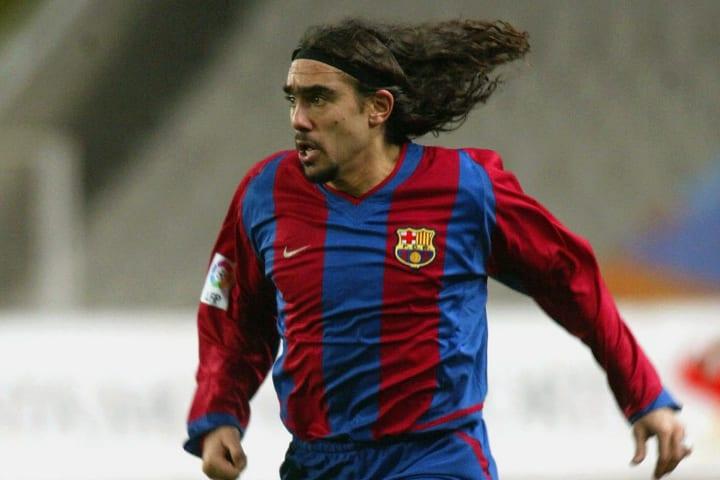 Juan Pablo Sorin of Barcelona