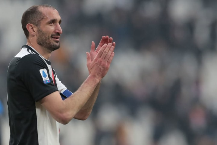 Chiellini has been at Juventus since 2005
