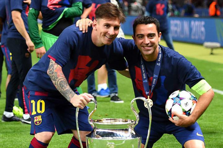 Lionel Messi Xavi Hernandez Parceiro Barcelona Carreira