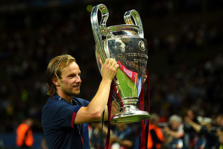 Rakitic clinched the famous trophy in his first season at FC Barcelona