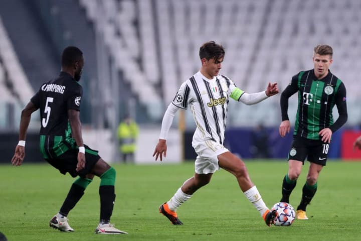 Dybala failed to shine against Ferencvaros