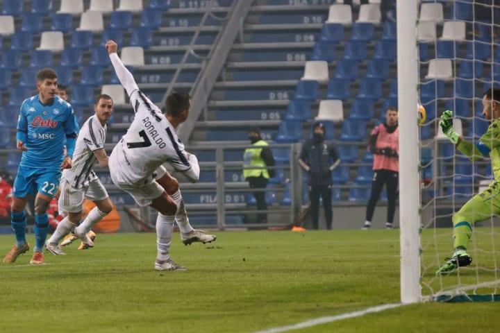 Ronaldo netted the record-breaking goal against Napoli