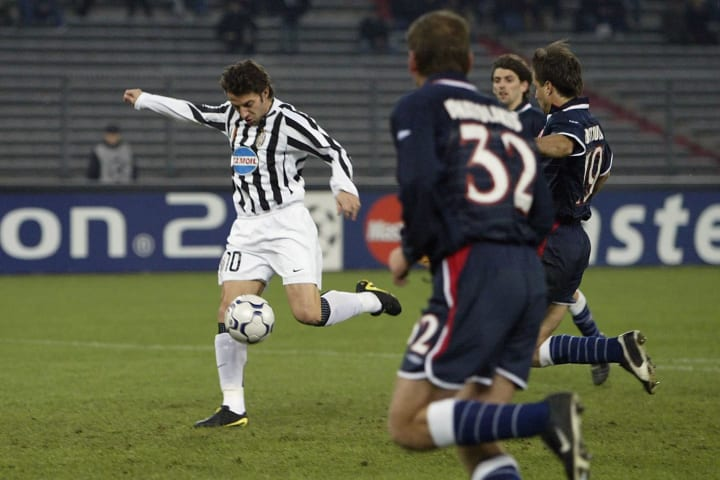 Del Piero was doing what he does best against Olympiacos