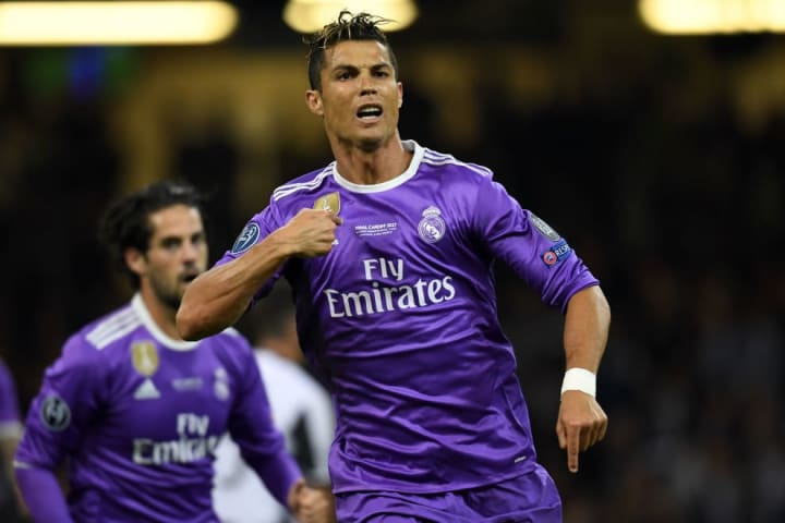 Ronaldo scored twice in the 2017 Champions League final