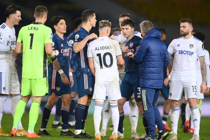 Kieran Tierney made his frustrations known at the final whistle and confronted Alioski.