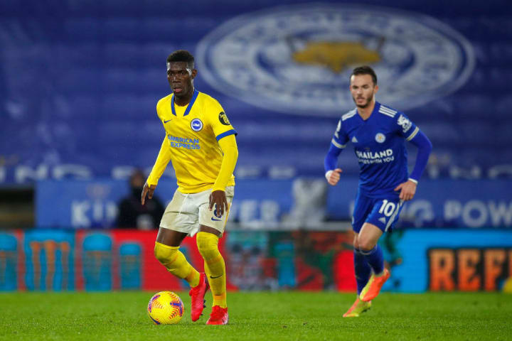 Brighton's Yves Bissouma and Leicester's James Maddison