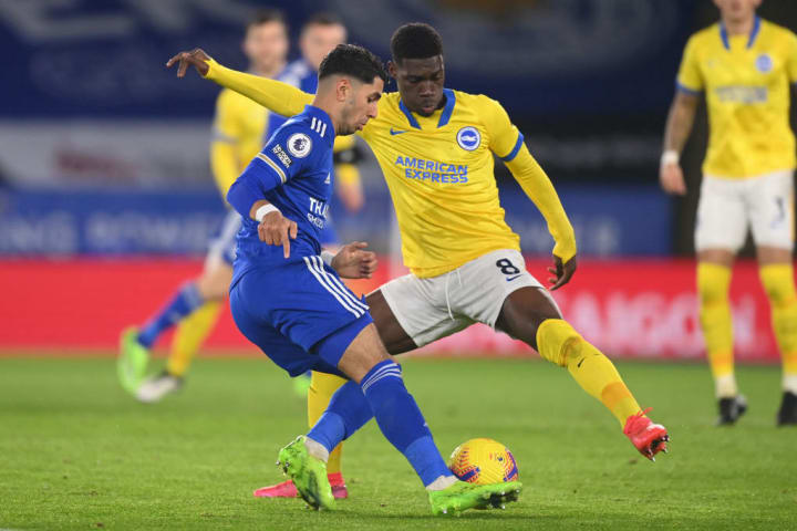 Bissouma lunges into a challenge