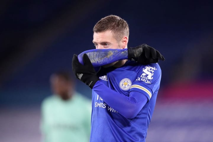 Vardy missed a golden first half chance