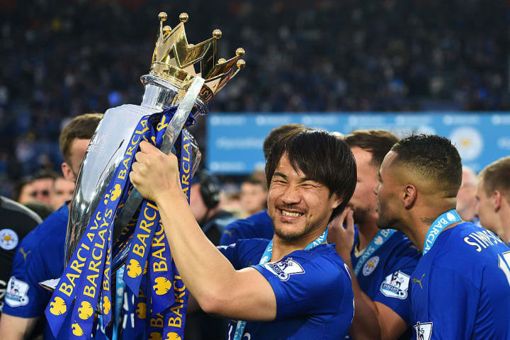 Okazaki is a Premier League champion with Leicester