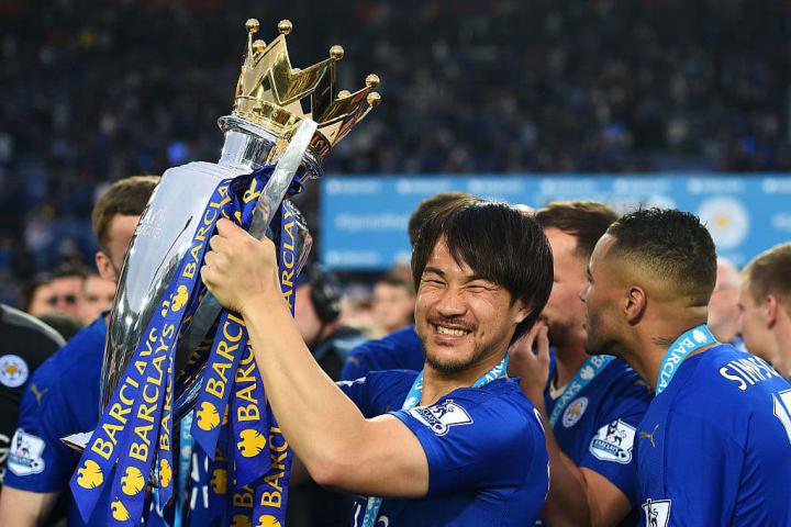 Okazaki is a Premier League champion with Leicester