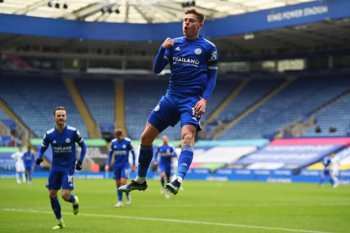 Harvey Barnes is in red hot form for Leicester