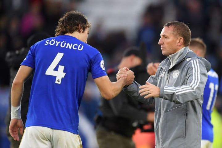 Caglar Soyuncu, Brendan Rodgers