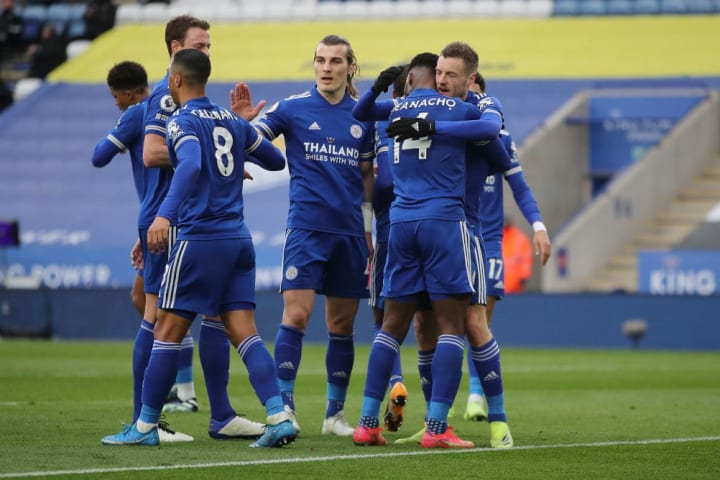 Leicester's Jamie Vardy and Kelechi Iheanacho worked brilliantly together against Sheffield United