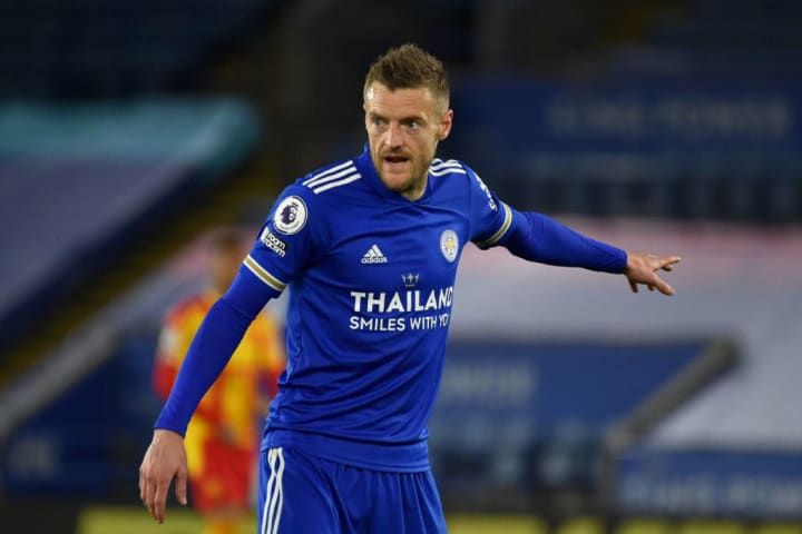 Jamie Vardy helped Leicester win the Premier League