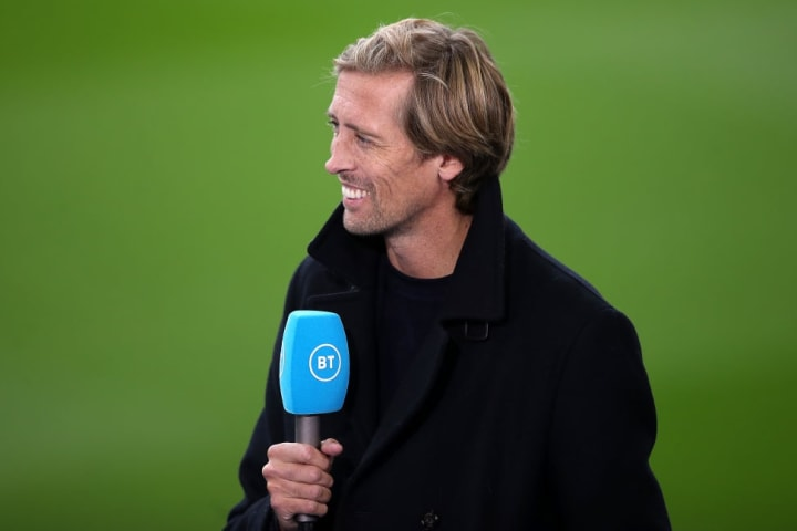 Peter Crouch has denied there is any pressure on Klopp