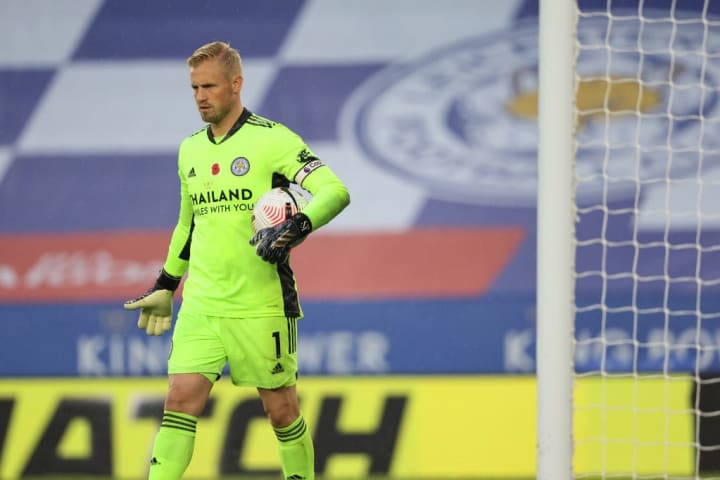 Kasper Schmeichel was a doubt for Sunday's game after taking a knock to the head in the international break, but is fit for Sunday