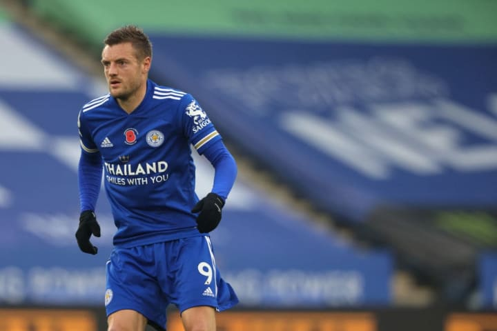Jamie Vardy boasts an impressive record against Liverpool, scoring seven goals in 11 games