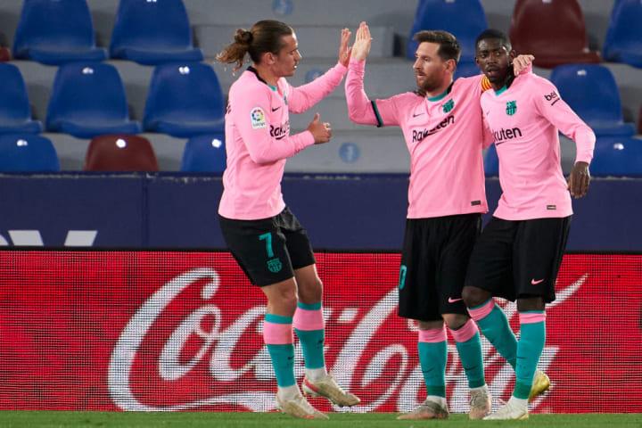 Lionel Messi, Ousmane Dembele, Antoine Griezmann