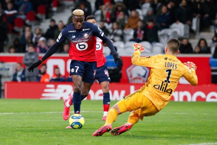 Victor Osimhen trong màu áo của Lille