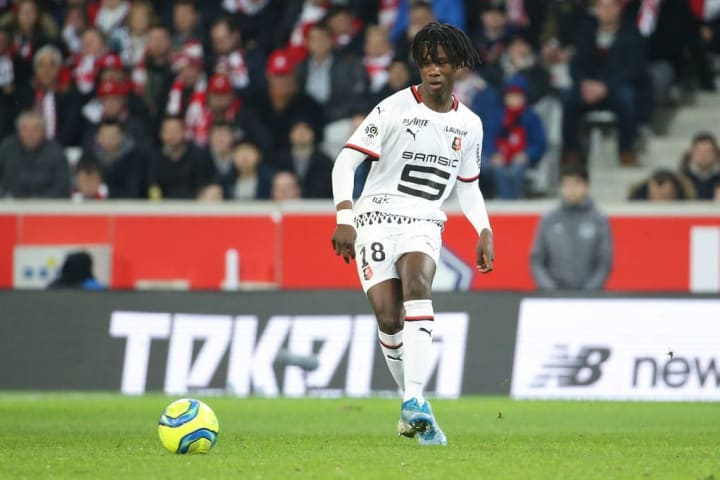 Camavinga in action for Rennes this season