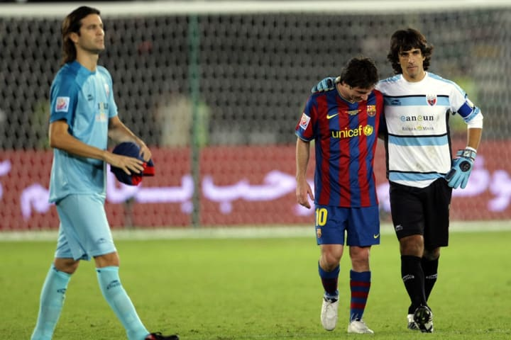 Lionel Messi of Spain's Barcelona (2nd R