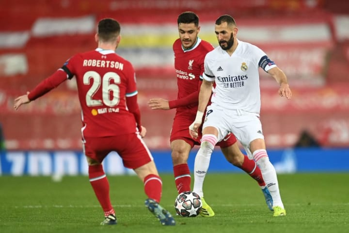 Karim Benzema did a good job of linking up play with the midfield