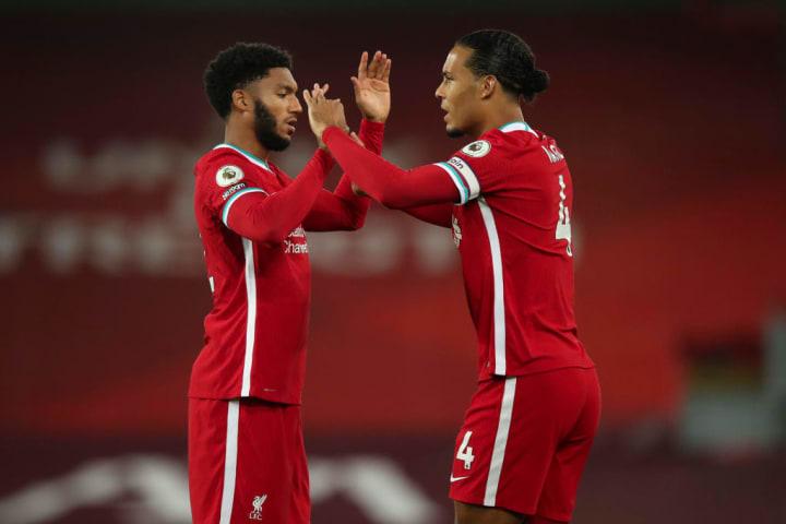 Joe Gomez and Virgil Van Dijk were a huge part of Liverpool's title winning side