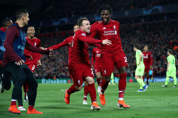Divock Origi will forever be remembered at Liverpool for his role in the 2019 Champions League comeback against Barcelona
