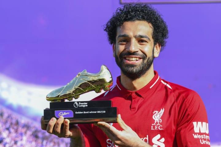 Mohamed Salah lifts the Golden Boot