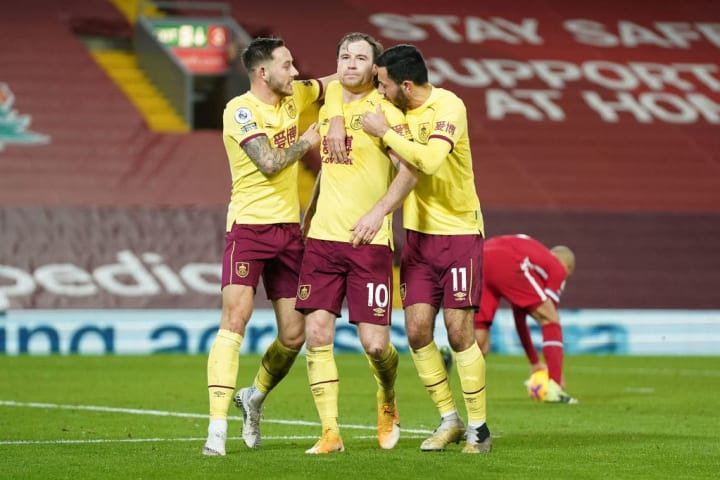 Ashley Barnes scored for Burnley from the penalty spot