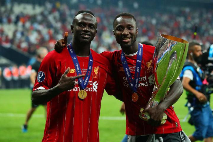 Liverpool's Sadio Mané and Naby Keïta.