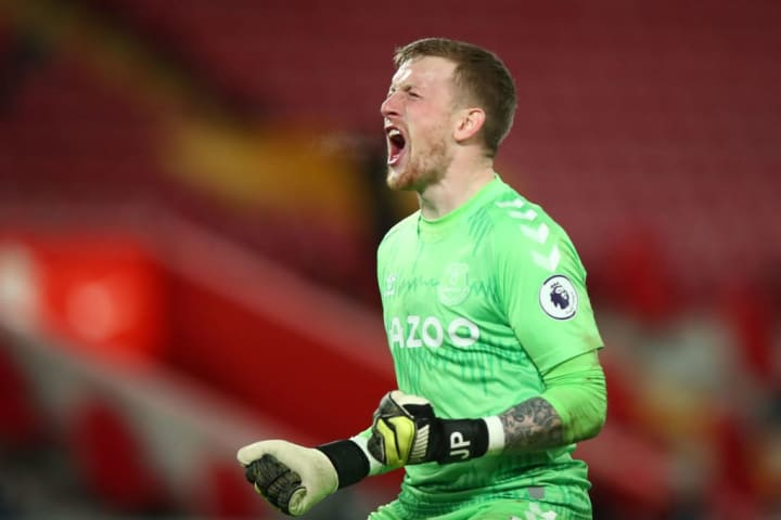 Jordan Pickford produced a fine display at Anfield