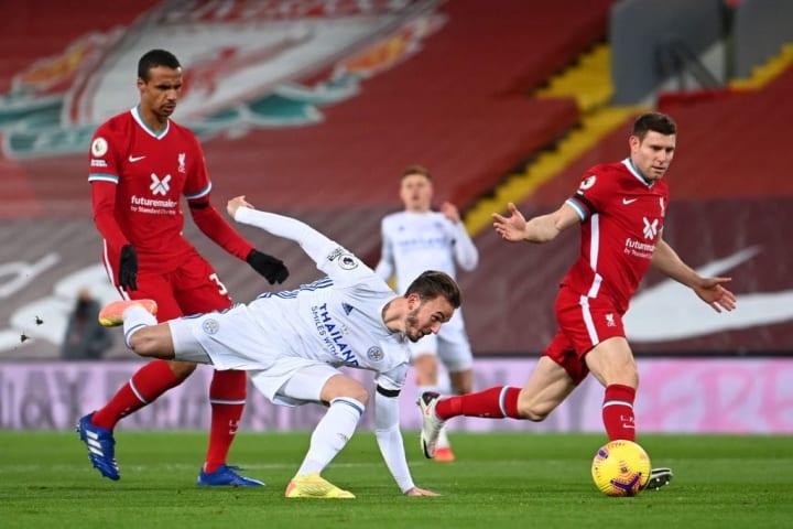 Maddison struggled to make his mark against Liverpool