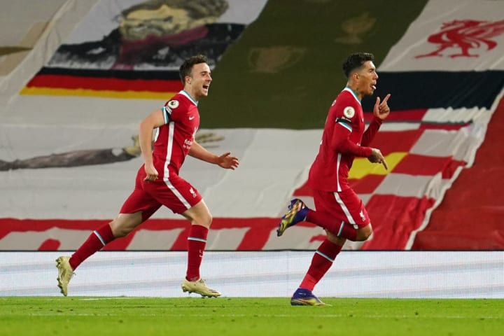Jota and Firmino were on the scoresheet as Liverpool beat Leicester 3-0