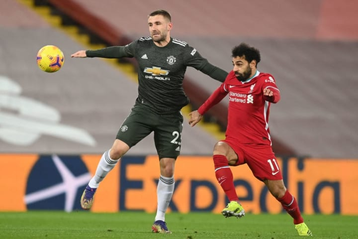 Shaw had the better of Salah throughout