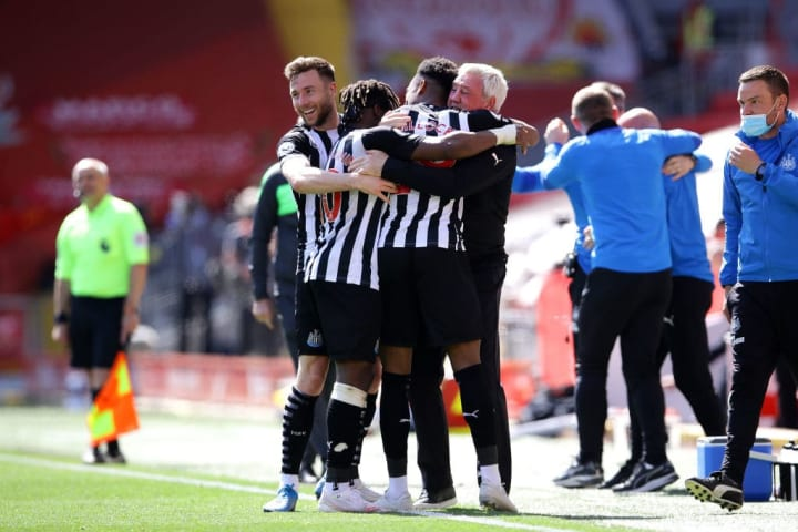 Newcastle celebrate their late point