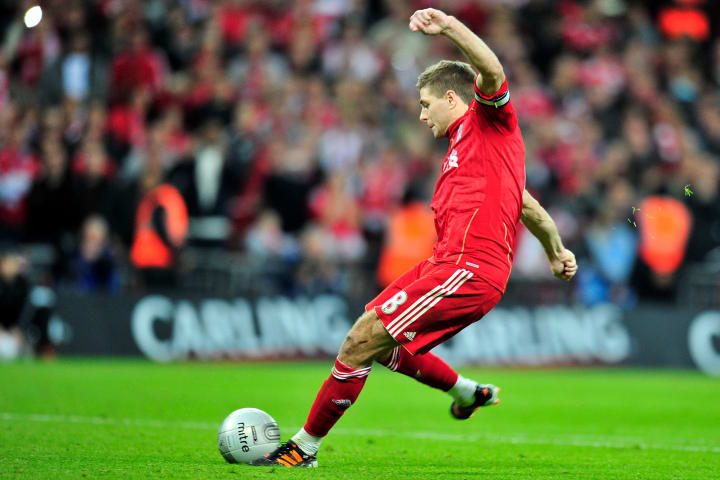 Liverpool's English footballer Steven Ge