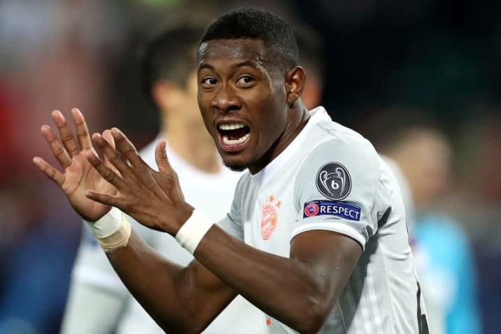 Alaba in action against Lokomotiv Moscow