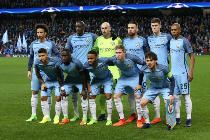The Manchester City starting XI