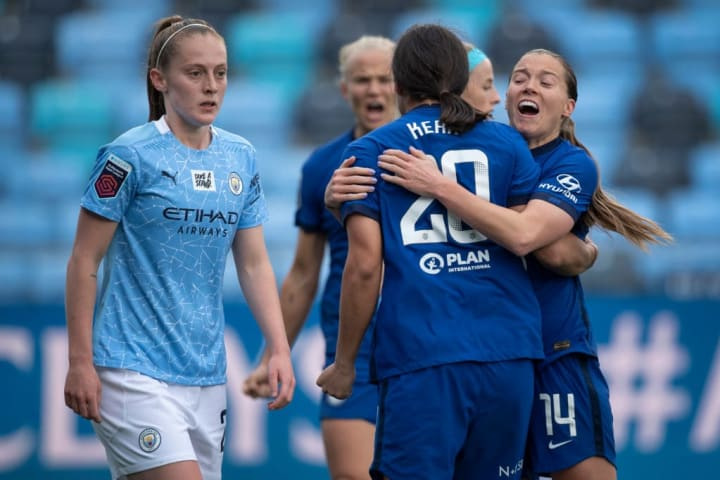 Chelsea are in the driving seat in the WSL title race ahead of Man City