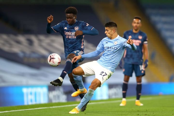 As well as the ten combined tackles and interceptions, Cancelo created three chances against Arsenal