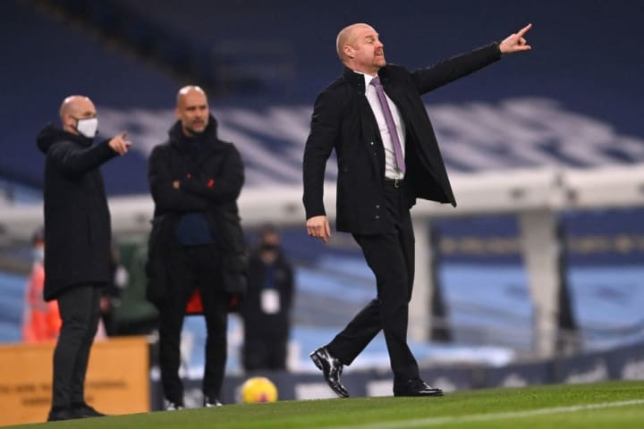 It was a tough afternoon for Dyche's men