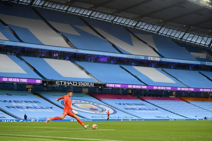 Manchester City faced Burnley in the Premier League on Monday night