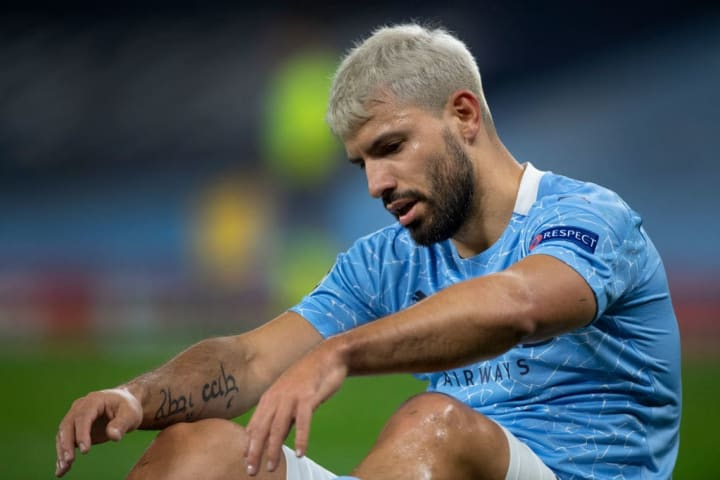 Aguero is set to miss out with a minor knee injury