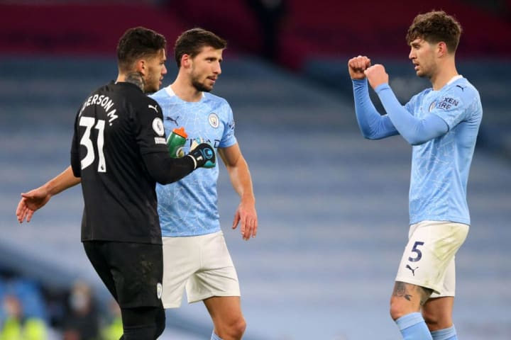 Ederson, Ruben Dias and John Stones have started to build chemistry at the back for City.