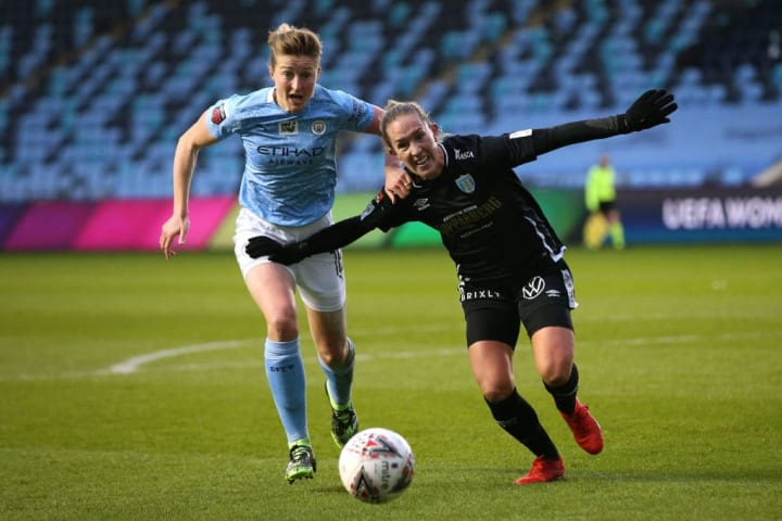Goteborg faced Manchester City two weeks ago