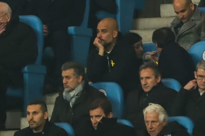 Guardiola lost his cool and was sent off during the Liverpool tie in 2018