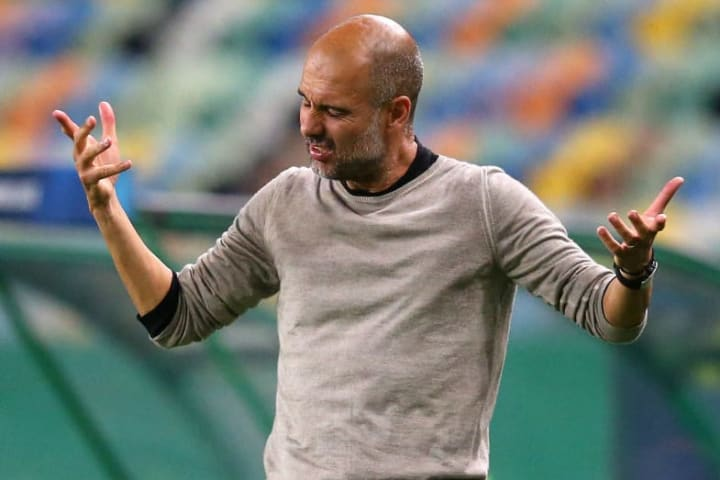 Pep Guardiola has identified defence as Man City's main weakness